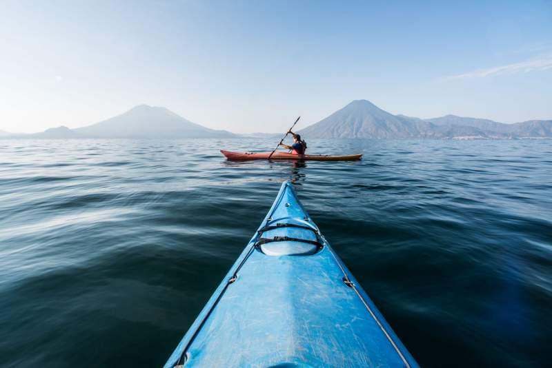 Kayaking on Lake Atitlan with Inspirit