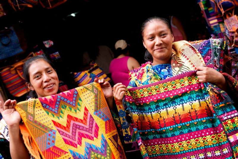 Women selling Textiles, Chichicastenango, Guatemala