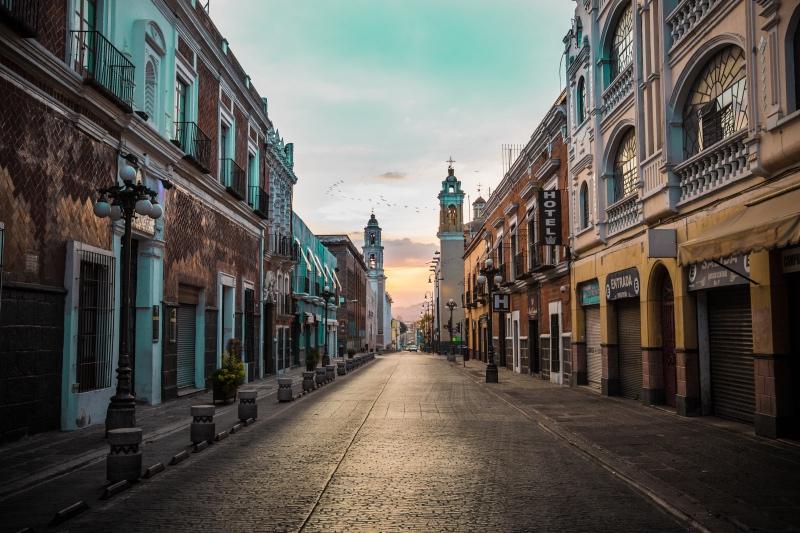 Puebla City in Mexico